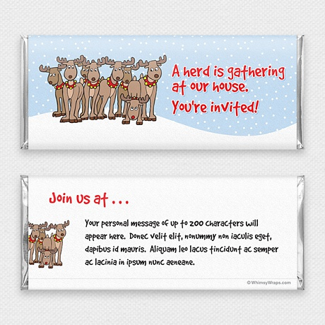 Photo of A Herd Is Gathering (Invitation) - with Hershey Milk Chocolate Bar (45g)