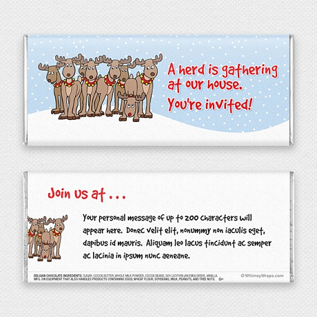 Photo of A Herd Is Gathering (Invitation) - with Belgian Milk Chocolate Bar (45g)