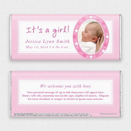 Photo of It's A Girl - with Belgian Milk Chocolate Bar (45g)