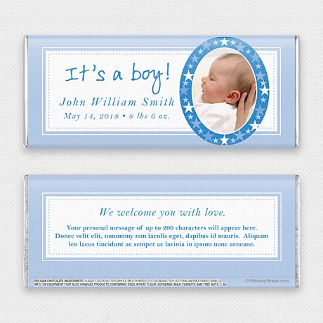 Photo of It's A Boy - with Belgian Milk Chocolate Bar (45g)