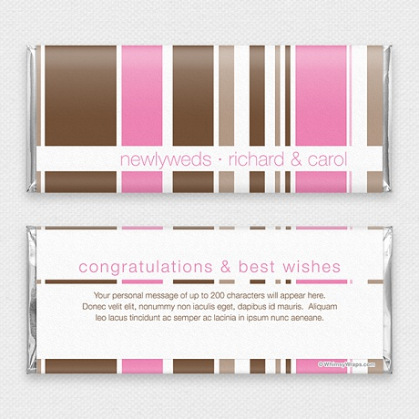 Photo of Simply Striped (Pink) - with Hershey Milk Chocolate Bar (45g)