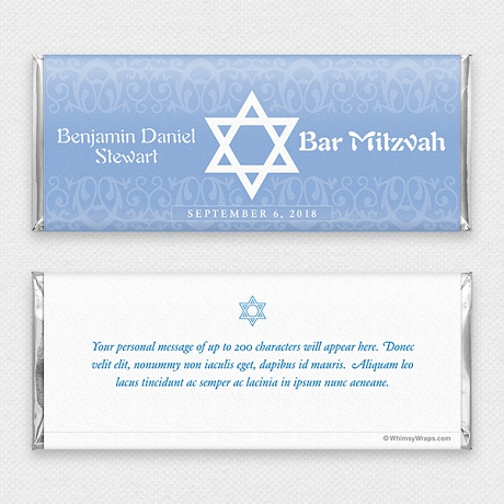 Photo of Bar Mitzvah (Blue) - with Hershey Milk Chocolate Bar (45g)
