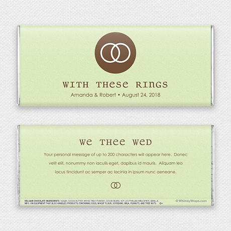 Photo of We Thee Wed - with Belgian Milk Chocolate Bar (45g)