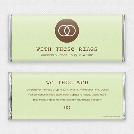 Photo of We Thee Wed - with Hershey Milk Chocolate Bar (45g)