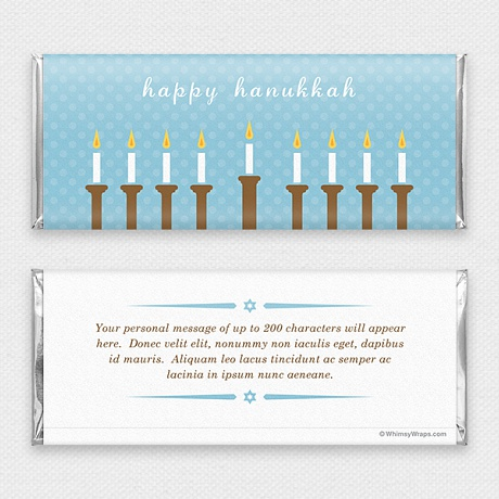 Photo of Hanukkah Lights - with Hershey Milk Chocolate Bar (45g)