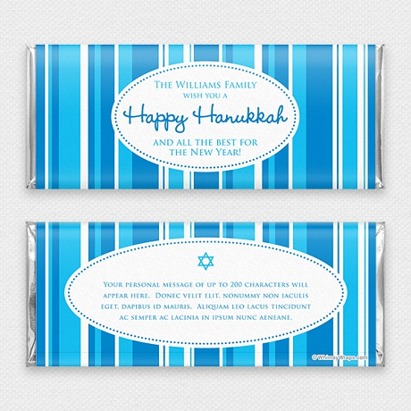 Photo of Happy Hanukkah - with Hershey Milk Chocolate Bar (45g)