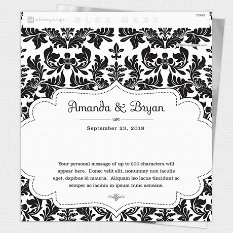 Photo of Royal Damask (Black) - Wrappers only