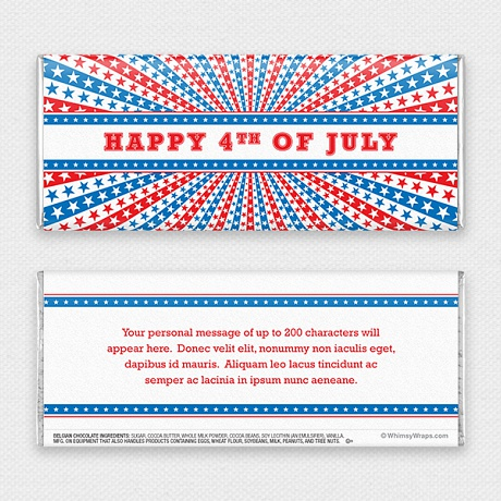 Photo of Stars and Stripes - with Belgian Milk Chocolate Bar (45g)