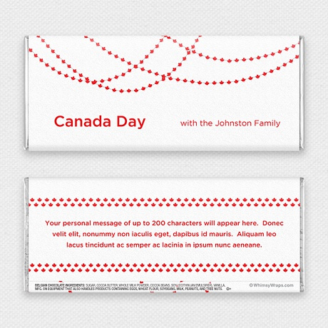 Photo of Canada Day - with Belgian Milk Chocolate Bar (51g)