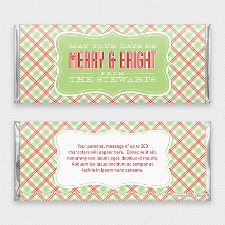 Photo of Merry and Bright - with Hershey Milk Chocolate Bar (45g)