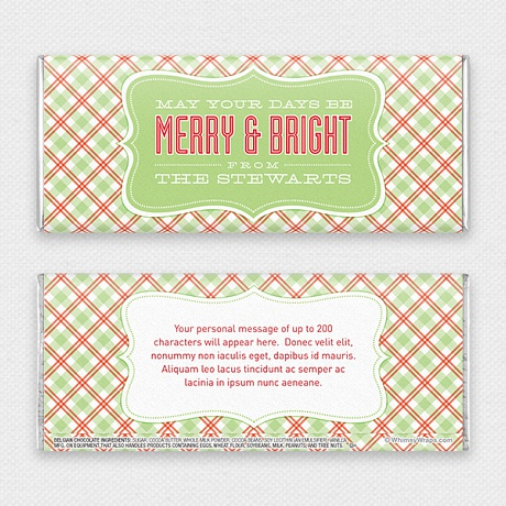 Photo of Merry and Bright - with Belgian Milk Chocolate Bar (45g)