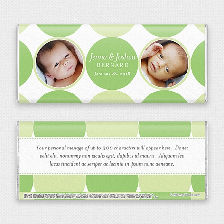 Photo of Baby Dots for Twins - with Belgian Milk Chocolate Bar (45g)