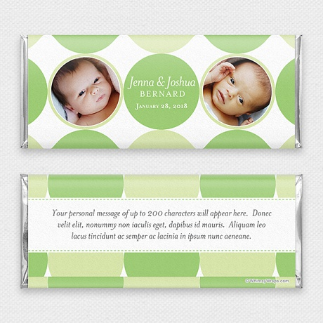 Photo of Baby Dots for Twins - with Hershey Milk Chocolate Bar (45g)