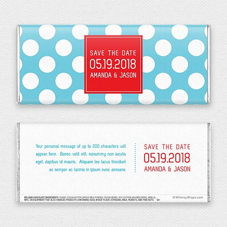 Photo of Dotty (Save the Date) - with Belgian Milk Chocolate Bar (45g)