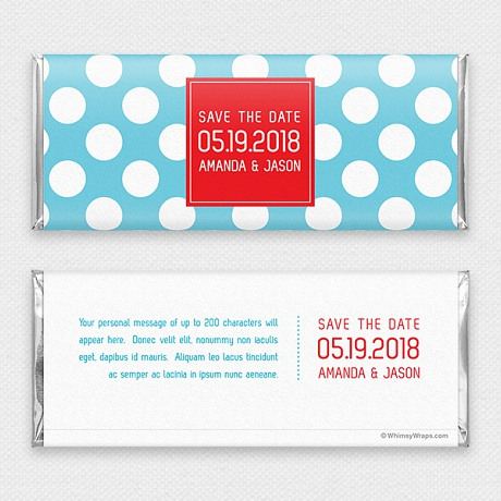 Photo of Dotty (Save the Date) - with Hershey Milk Chocolate Bar (45g)
