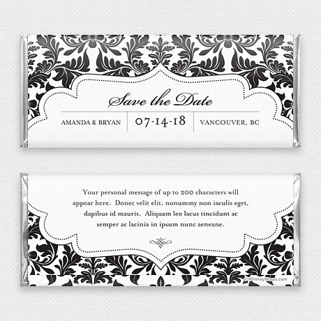 Photo of Royal Damask, Black (Save the Date)