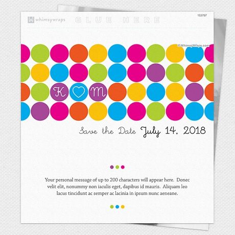 Photo of Rainbow Dots (Save the Date) - Wrappers only