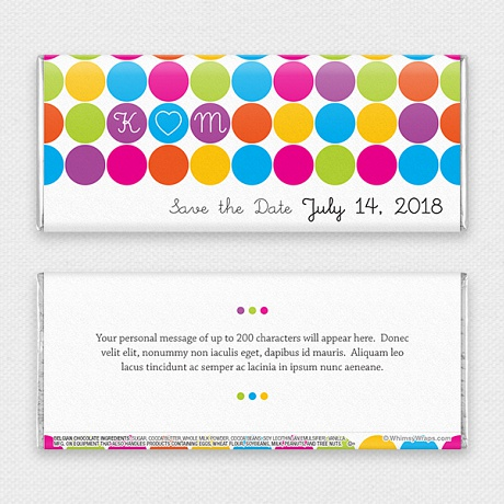 Photo of Rainbow Dots (Save the Date) - with Belgian Milk Chocolate Bar (45g)