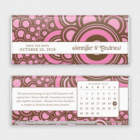 Photo of Pearls (Save the Date) - with Belgian Milk Chocolate Bar (45g)