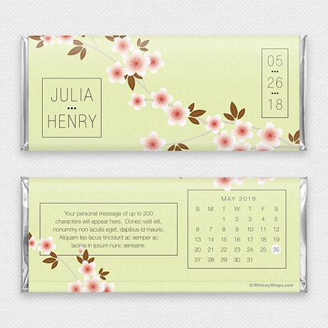 Photo of Cherry Blossom (Save the Date) - with Hershey Milk Chocolate Bar (45g)