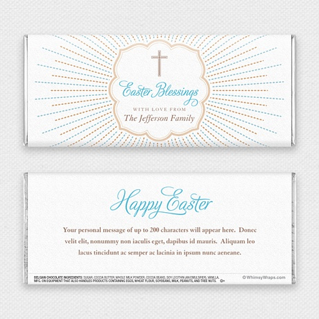 Photo of Blessed Easter - with Belgian Milk Chocolate Bar (45g)