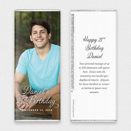 Photo of Picture Perfect Portrait (Birthday) - with Belgian Milk Chocolate Bar (45g)