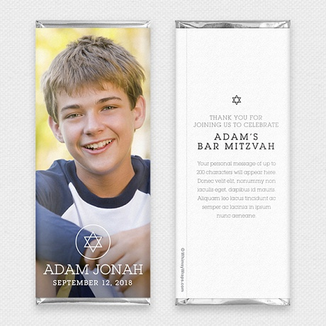 Photo of Picture Perfect Portrait (Mitzvah) - with Hershey Milk Chocolate Bar (45g)