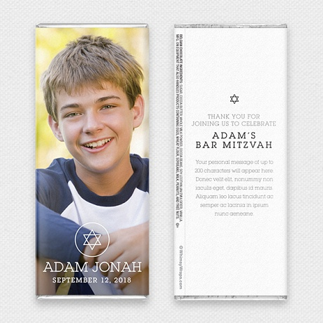 Photo of Picture Perfect Portrait (Mitzvah) - with Belgian Milk Chocolate Bar (45g)
