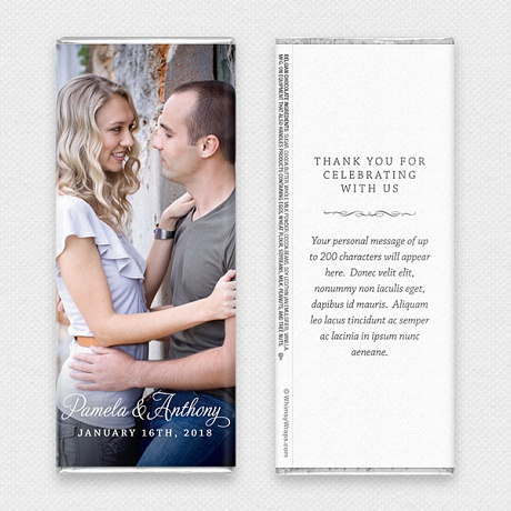 Photo of Picture Perfect Portrait (Wedding) - with Belgian Milk Chocolate Bar (45g)