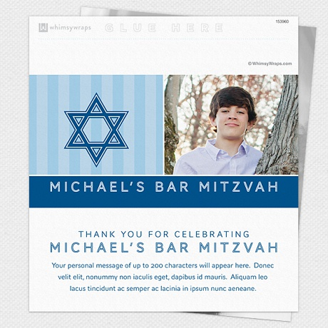 Photo of Striped Mitzvah (Blue) - Wrappers only