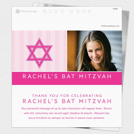 Photo of Striped Mitzvah (Pink) - Wrappers only