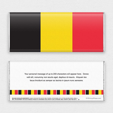 Photo of Belgian Flag - with Belgian Milk Chocolate Bar (45g)