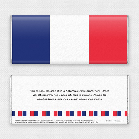 Photo of French Flag - with Belgian Milk Chocolate Bar (51g)