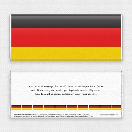 Photo of German Flag - with Belgian Milk Chocolate Bar (45g)
