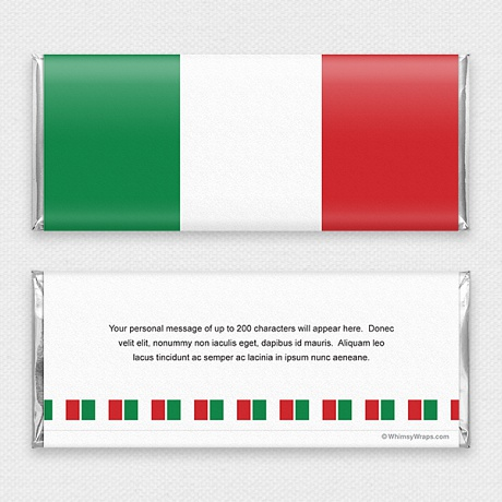 Photo of Italian Flag - with Hershey Milk Chocolate Bar (45g)
