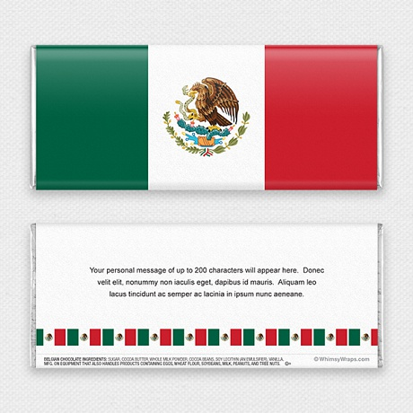Photo of Mexican Flag - with Belgian Milk Chocolate Bar (45g)
