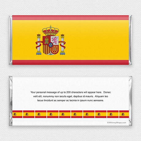 Photo of Spanish Flag - with Hershey Milk Chocolate Bar (45g)