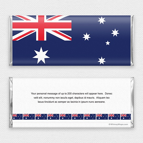 Photo of Australian Flag - with Hershey Milk Chocolate Bar (45g)