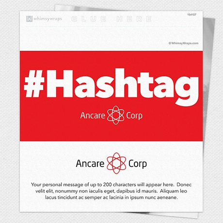 Photo of Hashtag - Wrappers only